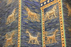 Ancient Babylonian city wall. Details of a Babylonian city wall in Pergamon museum ,Berlin stock images