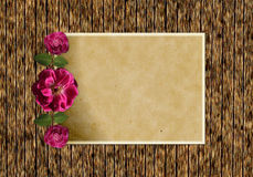 Ancient background with roses Royalty Free Stock Photo