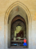 Ancient Bagan buddha statue, Myanmar Royalty Free Stock Photography