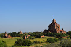 Ancient Bagan temples, Mandalay, Myanmar. Some of the thousands of temples that are spread across the plains of Bagan. One of the richest archaeological sites in Stock Photography