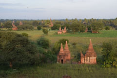 Ancient Bagan temples, Mandalay, Myanmar. Some of the thousands of temples that are spread across the plains of Bagan. One of the richest archaeological sites in Stock Images