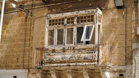 Ancient balconies in the ancient city of Valletta, Malta. Ancient balconies in the ancient city of Valletta, Malta Stock Images