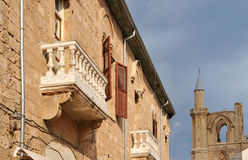 Ancient balcony. In the Famagusta Stock Photo