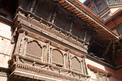 Ancient Balcony, Kathmandu Durbar Square, Nepal Stock Photography