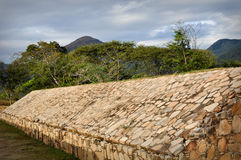 Ancient Ball Court Game in Mexico Stock Photo
