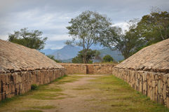 Ancient Ball Court Game in Mexico Stock Images