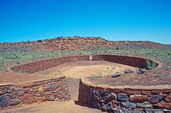 Ancient ball court at Wupatki National Monument, A Stock Photography