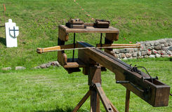 Ancient ballista (crossbow) Stock Photos