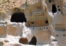 Ancient Bandelier Architectural rock carvings royalty free stock images