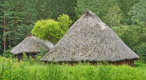 Ancient barn with a straw roof Royalty Free Stock Image