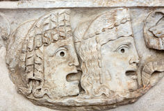 Ancient bas-relief  in the baths of Diocletian in Rome Royalty Free Stock Photography