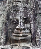 Ancient bas-relief at Bayon, Cambodia Royalty Free Stock Photography