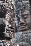 Ancient bas-relief at the Bayon, Cambodia Stock Image