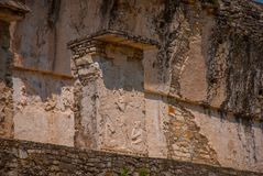 Ancient bas-relief carving Maya people at the Palenque ruinas Chiapas Mexico. The famous archaeological complex royalty free stock image