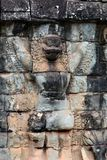 Ancient bas-relief of Garuda in Angkor Thom, Cambodia Stock Photos