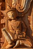 Ancient bas-relief at Inn Thein Paya, myanmar Royalty Free Stock Images
