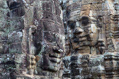 Ancient bas-relief at the Upper terrace of Prasat Bayon, Cambodi Stock Photo