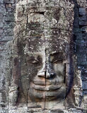 Ancient bas-relief at the Upper terrace of Prasat Bayon, Cambodi Royalty Free Stock Photography