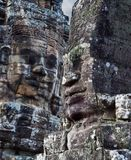 Ancient bas-reliefs at the Bayon temple Royalty Free Stock Photography