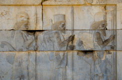 Ancient bas-reliefs of Persepolis Royalty Free Stock Images