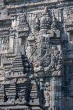 Bas-reliefs of Prambanan temple, Java, Indonesia Royalty Free Stock Photography