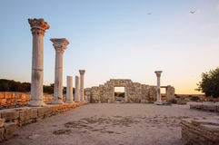 Ancient basilica Stock Images