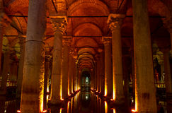 Ancient basilica cistern Royalty Free Stock Images