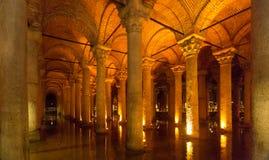 Ancient Basilica Cistern stock photography