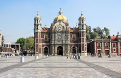 Ancient Basilica of Our Mary of Guadalupe, Mexico City stock photography