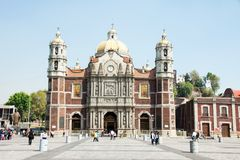 Ancient Basilica of Our Mary of Guadalupe, Mexico City Royalty Free Stock Photos