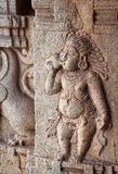 Ancient basrelief in Hampi Royalty Free Stock Photography
