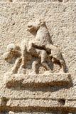 Ancient basrelief of hindu deities in Achyutaraya Temple Royalty Free Stock Image