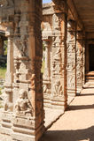 Ancient basrelief of hindu deities in Achyutaraya Temple Royalty Free Stock Images