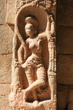 Ancient basrelief of hindu deities in Achyutaraya Temple Royalty Free Stock Photo