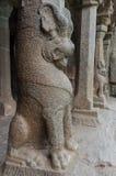 Ancient basreliefs  and statues   in Mamallapuram, Tamil Nadu, I Stock Image