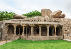 Ancient basreliefs  and statues   in Mamallapuram, Tamil Nadu, I Stock Images