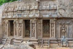Ancient basreliefs  and statues   in Mamallapuram, Tamil Nadu, I Stock Photo