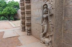 Ancient basreliefs  and statues   in Mamallapuram, Tamil Nadu, I Royalty Free Stock Photo