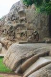 Ancient basreliefs  and statues   in Mamallapuram, Tamil Nadu, I Royalty Free Stock Image
