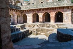 Ancient Royal Bath or Hamam in the Ship Palace of Mandu India. Ancient Royal Bath or Hamam in the Ship Palace of Mandu or Mandav District Dhar Madhya Pradesh royalty free stock photos