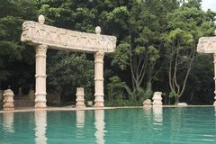 Ancient Bathing Pool. A royal pool in an anciant setting Stock Images