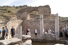 The ancient bathroon in Ephesus Royalty Free Stock Image