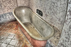 Ancient bathtub Stock Image