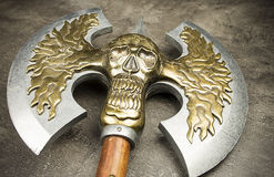 Ancient battle axe close up Stock Photography