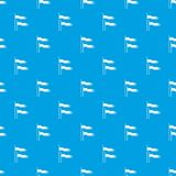 Ancient battle flags pattern seamless blue. Ancient battle flags pattern repeat seamless in blue color for any design. Vector geometric illustration Royalty Free Stock Photo