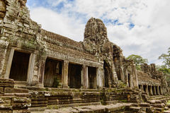Ancient Bayon Temple. Located in Angkor, Siem Reap, Cambodia Royalty Free Stock Photos