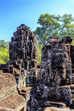 Ancient Bayon temple in Angkor Thom, Siem Reap, Cambodia Royalty Free Stock Photography