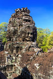 Ancient Bayon temple in Angkor Thom, Siem Reap, Cambodia Stock Images