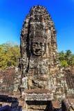Ancient Bayon temple in Angkor Thom, Siem Reap, Cambodia Royalty Free Stock Photos