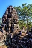 Ancient Bayon temple in Angkor Thom, Siem Reap, Cambodia Stock Image